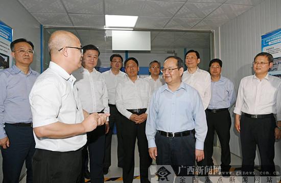 鹿心社在南宁调研自治区成立60周年公益性重大项目建设工作
