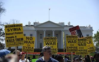 美民众抗议对叙军事打击