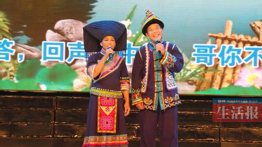 广西壮族山歌王唱了40多年山歌 因山歌与妻子结缘