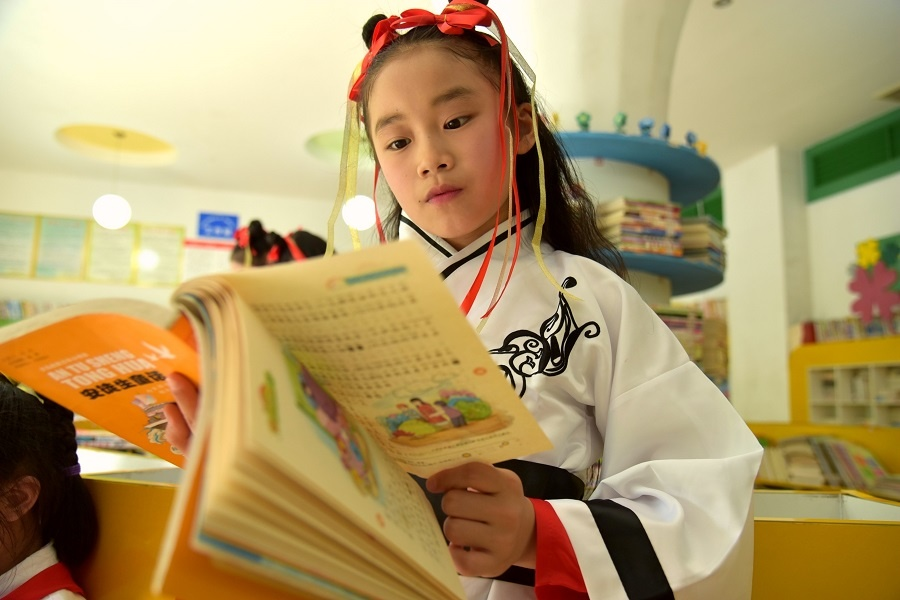 广西河池:校园诵读飘书香(组图)