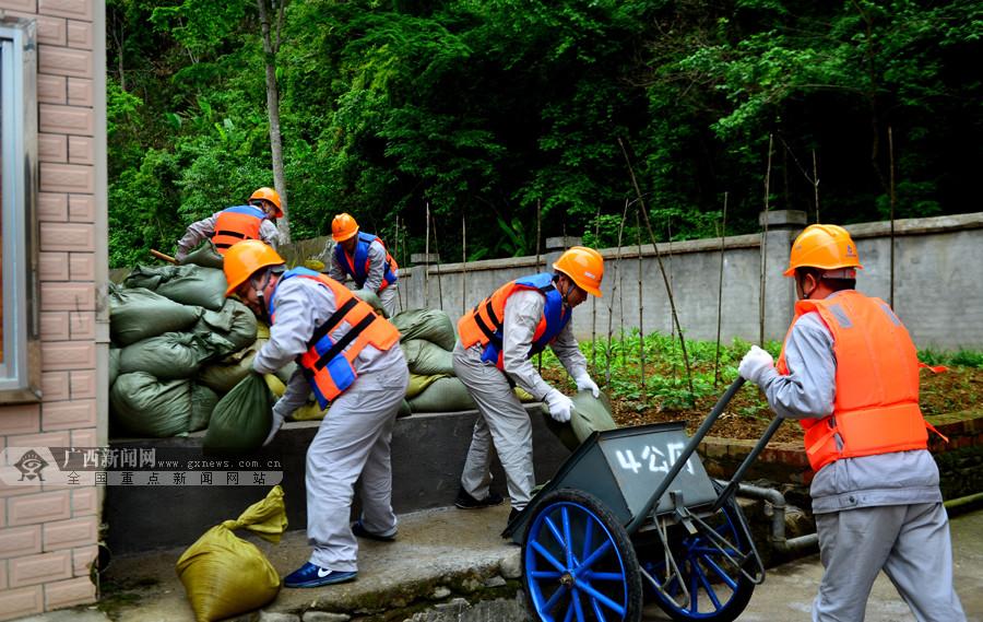 龙胜举行防洪度汛综合应急演练备战汛期(组图)