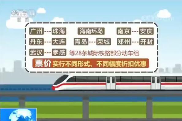 大通彩票导航:28条城际铁路动车组今日调价打折_多为短途线路