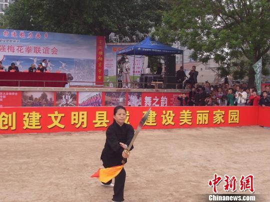 pk10如何将100玩到一万:400余梅花拳弟子河北武强展演_女弟子冲破古习俗献艺