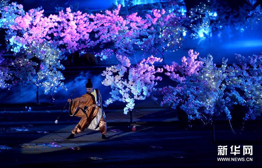(文化)(3)水舞光影秀绽放西安大雁塔