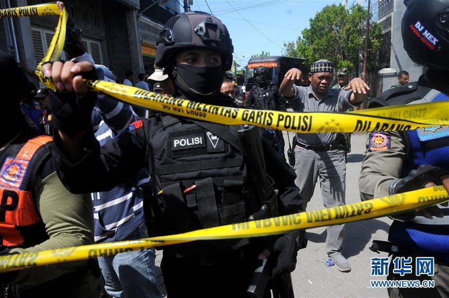 (国际)(4)印尼警方调查泗水警察局总部遇袭事件