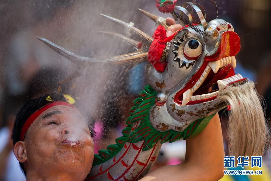 (XHDW)(7)澳门举办传统舞醉龙活动