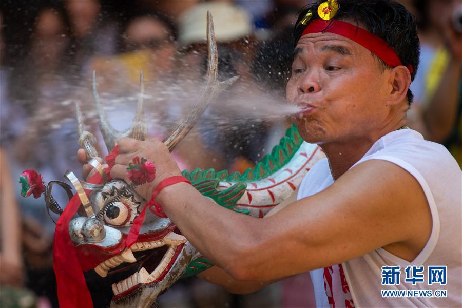 (XHDW)(4)澳门举办传统舞醉龙活动