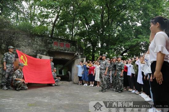 """广西民族师范学院:学生党员成长在部队""""红色基因""""中"""
