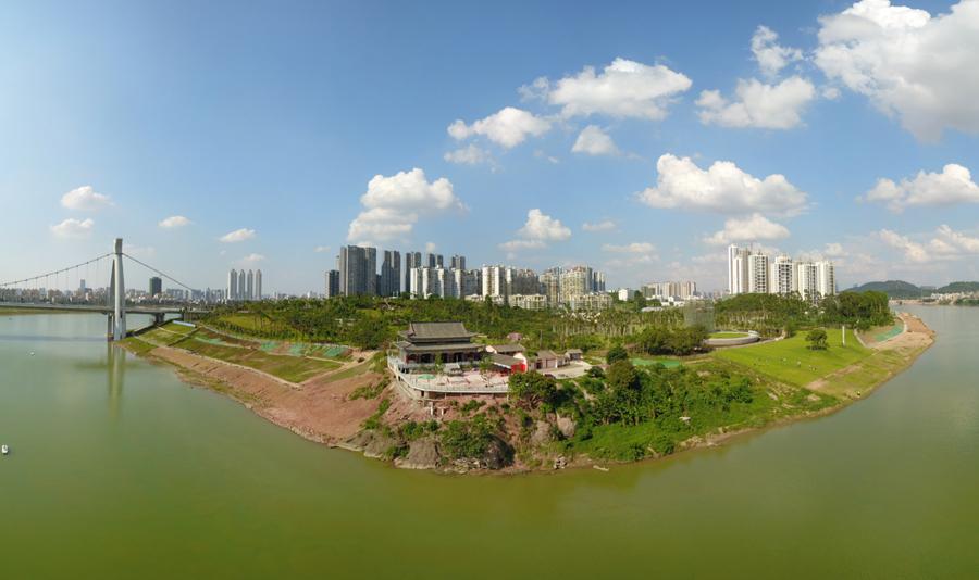 遊天府:屹立江畔历经三百载风雨 柳沙半岛新景观