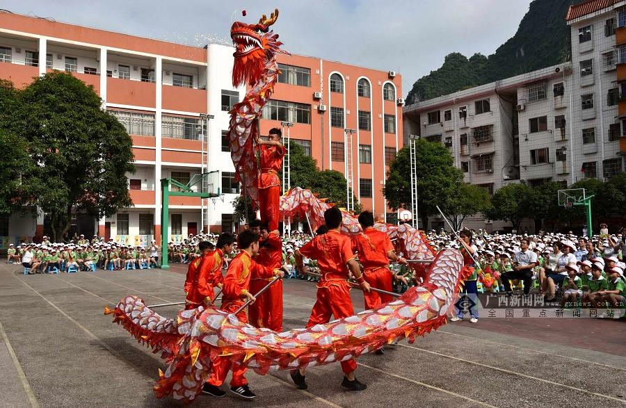 河池金城江区中华传统文化进校园活动启动(组图)