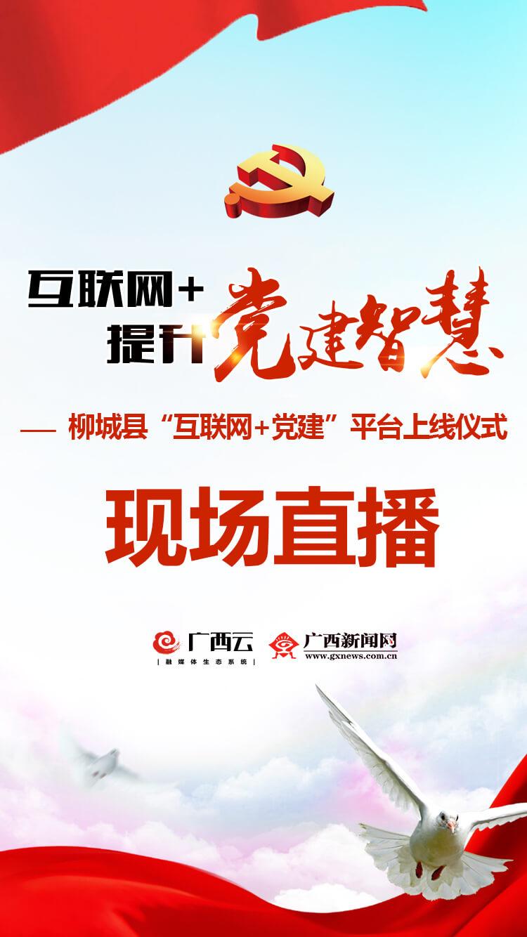 """柳城县""""互联网+党建""""平台5月30日上线 本网直播"""