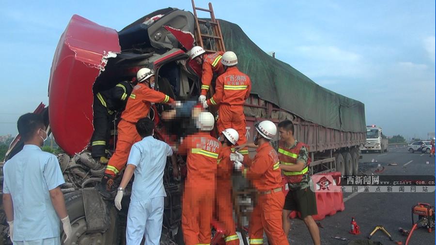 兰海高速上两货车发生追尾 事故造成1人死亡(图)