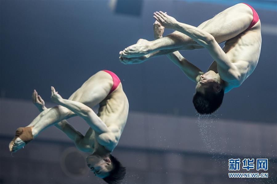 (体育)(6)跳水――世界杯:男子双人3米跳板赛况