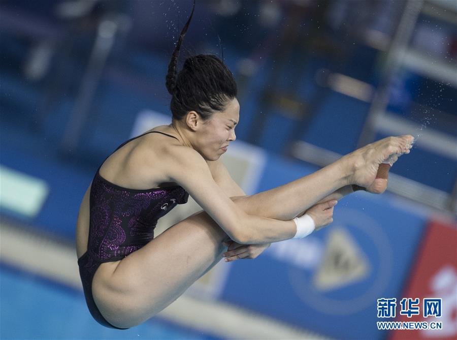 (体育)(5)跳水――世界杯:王涵获女子三米跳板亚军