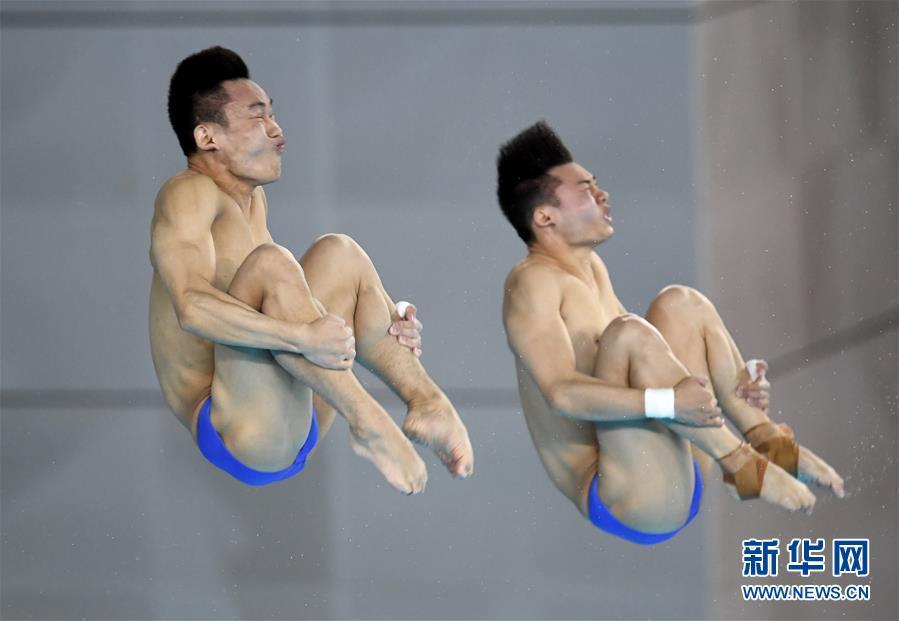 (体育)(10)跳水――世界杯:陈艾森/杨昊获男子双人十米跳台冠军