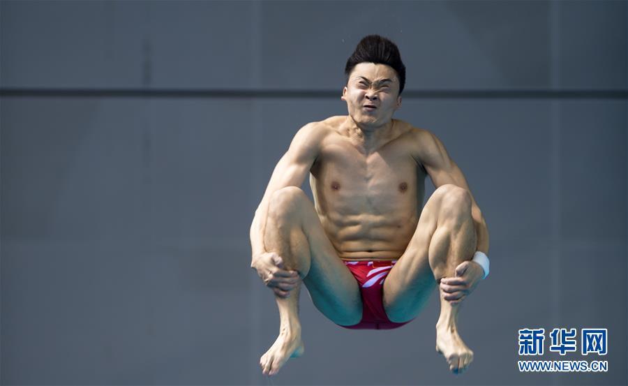 (体育)(10)跳水――世界杯:男子三米跳板赛况