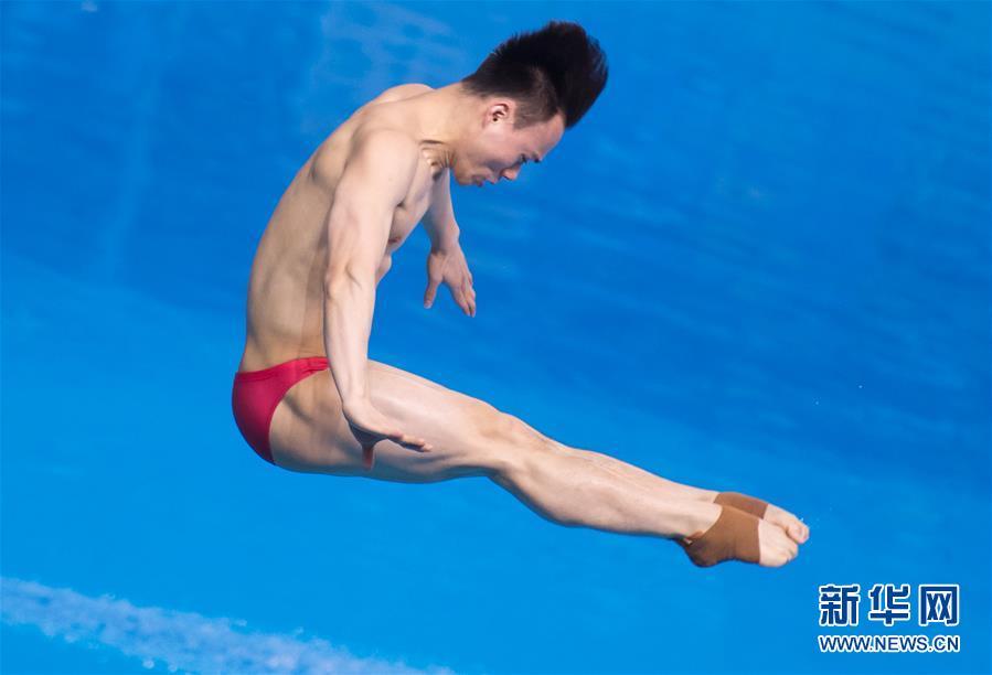 (体育)(5)跳水――世界杯:男子三米跳板赛况