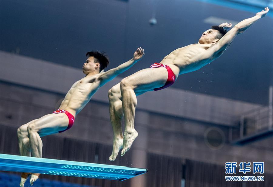 (体育)(5)跳水――世界杯:男子双人3米跳板赛况
