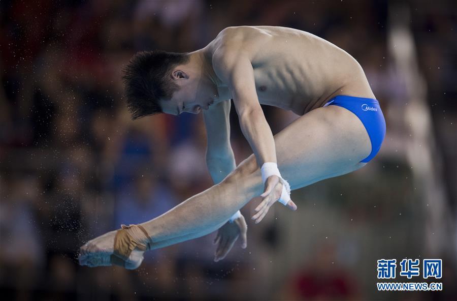 (体育)(3)跳水――世界杯:陈艾森获得男子十米跳台冠军