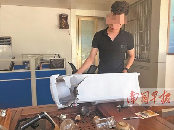 南宁安吉钢材市场一钢材店被打砸 疑竞争对手所为