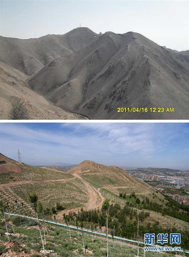 (环境)(3)乌鲁木齐:接力播绿 荒山换新颜