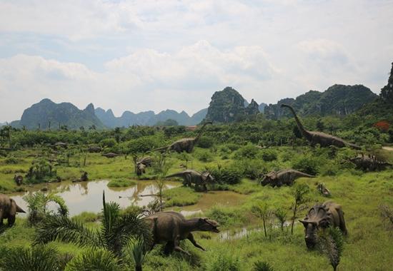龙谷湾恐龙理念:远古激情和现代公园的文明碰v恐龙美食街合肥图片