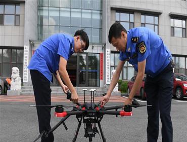长春:无人机助力提升城管水平