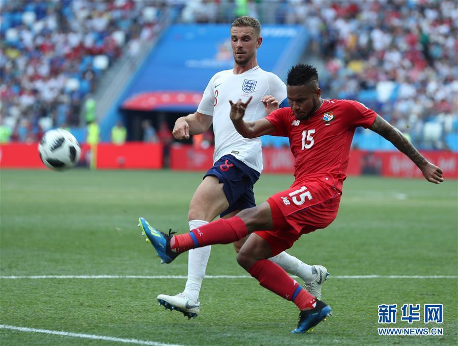 (世界杯)(21)足球――G组:英格兰队胜巴拿马队