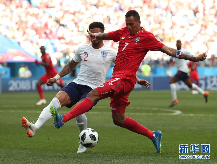 (世界杯)(14)足球――G组:英格兰队胜巴拿马队