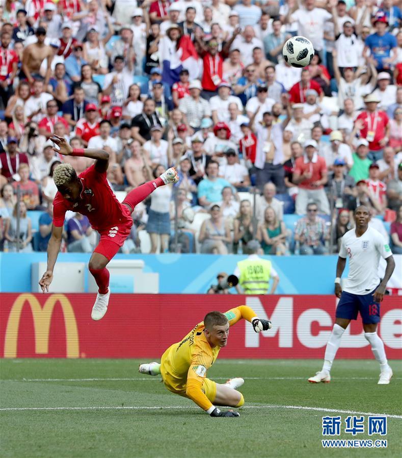(世界杯)(5)足球――G组:英格兰队胜巴拿马队