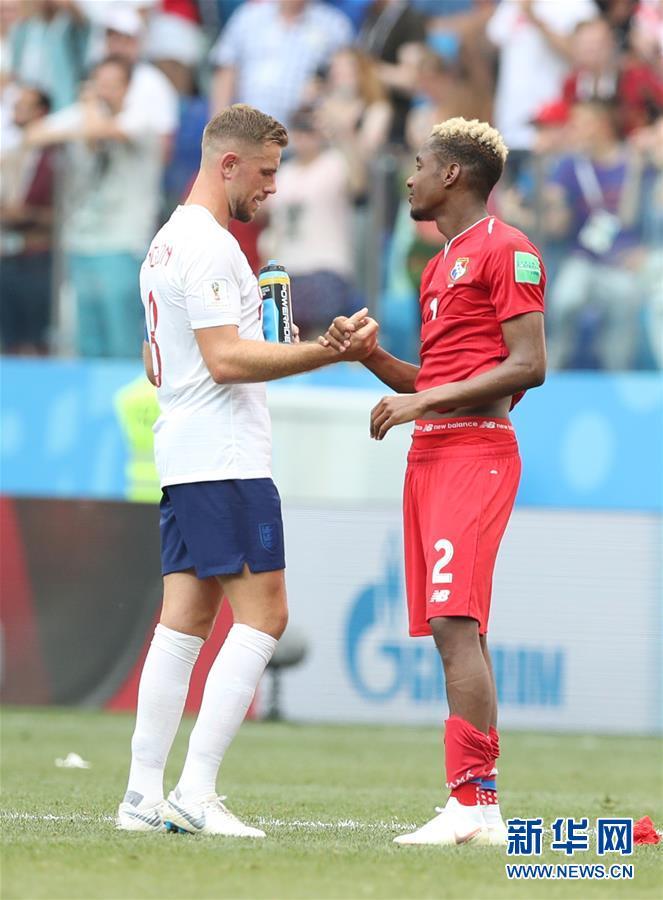 (世界杯)(9)足球――G组:英格兰队胜巴拿马队