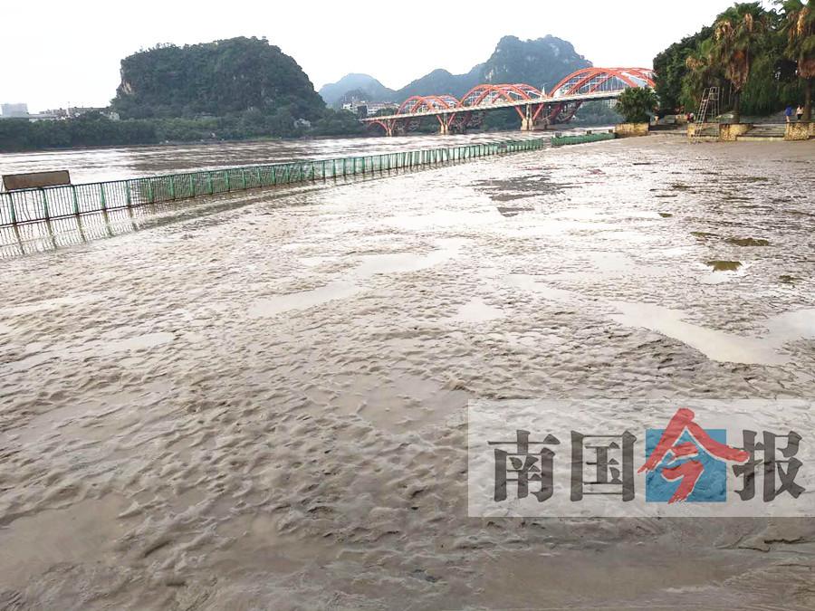 小洪峰平安过境柳州 柳州市区河段水位未暴涨(图)