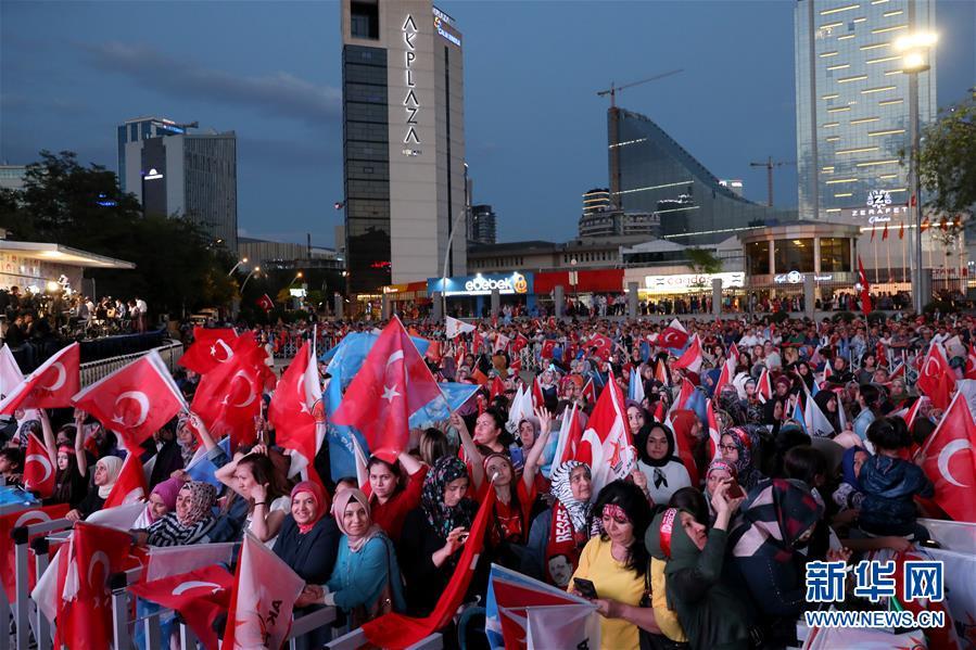 (国际)(8)埃尔多安在土耳其总统选举中获胜