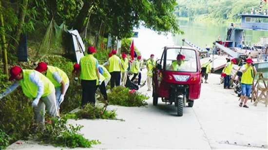 百马乡开展保护母亲河志愿服务活动