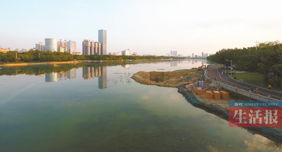 景观岛初具雏形 还有4个月新款南湖即将呈现(图)