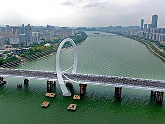 """焦点图:""""柳州之门""""白沙大桥基本成形"""