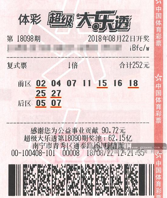 南宁21人合买中大乐透836万元头奖 高调领奖(图)