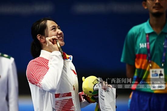 冯君阳喜获铜牌 广西泳将时隔16年再登亚运领奖台