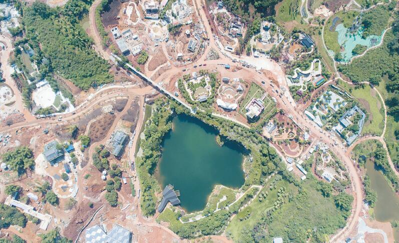 南宁:中华城市展园少数民族组团建设完成90%以上