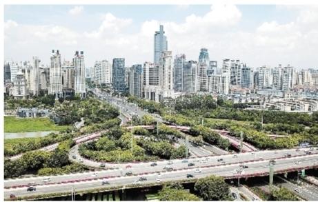 """""""绿色气质""""提升""""城市颜值""""   邕城处处披绿装换新颜"""