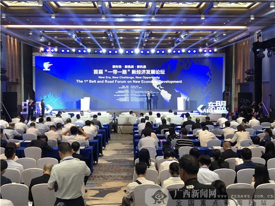 """首届""""一带一路""""新经济发展论坛在广西南宁举办"""
