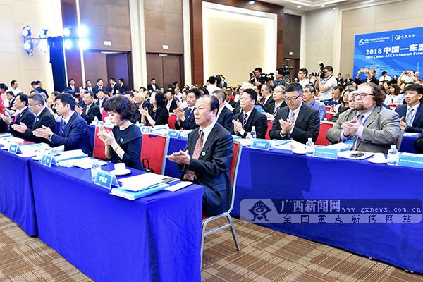 2018中国-东盟汇商聚智高峰论坛在南宁开幕(图)