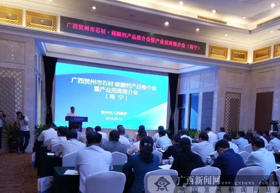 贺州市石材·碳酸钙产品推介会在南宁举行