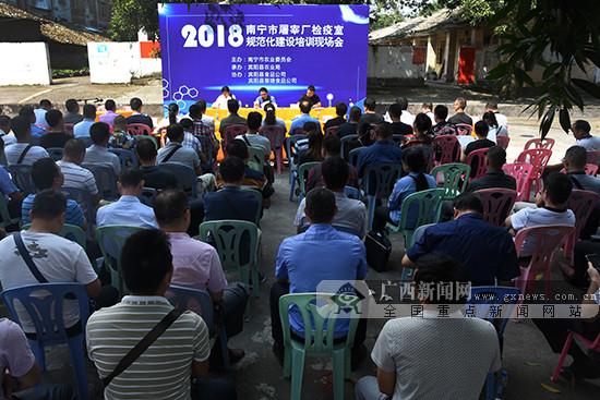 南宁市屠宰厂检疫室规范化建设培训现场会在宾阳举行