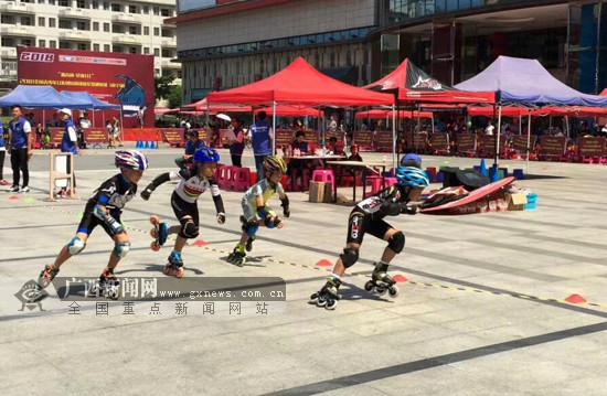 2018全国青少年U系列短道速度轮滑巡回赛登临南宁