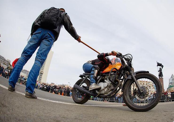 俄罗斯远东城市摩托车展