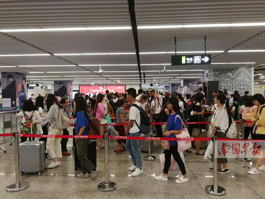 国庆期间 南宁地铁线网客运总量超过500万人次