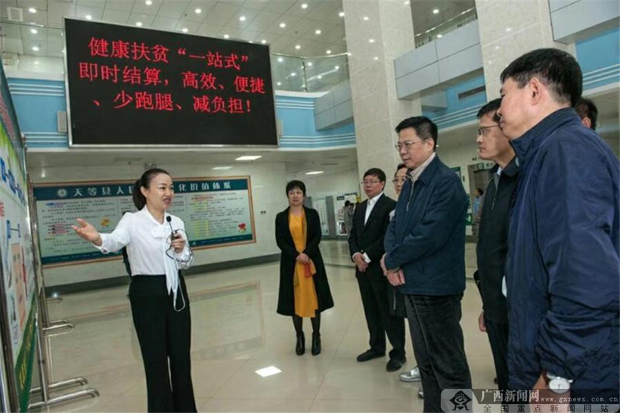 中国人寿集团党委书记王滨一行赴天等龙州调研精准扶贫