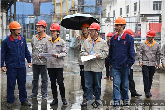 全区危化企业安全生产条件专项检查现场会在河池召开
