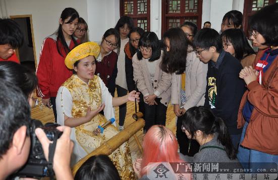 京族文化走进广西师范大学深受欢迎